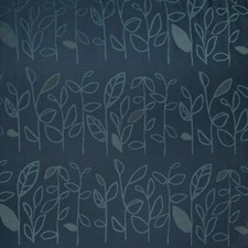 Indigo Tropical Drapery and Upholstery Fabric by S. Harris