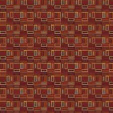 Brick Geometric Drapery and Upholstery Fabric by S. Harris
