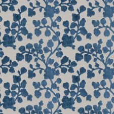 Sapphire Floral Drapery and Upholstery Fabric by Trend