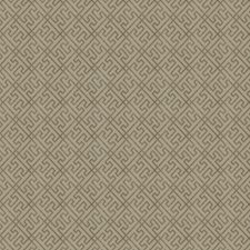 Truffle Geometric Drapery and Upholstery Fabric by Trend