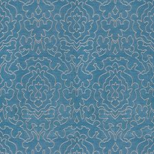 Navy Contemporary Drapery and Upholstery Fabric by Trend