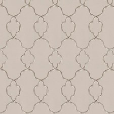 Natural Taupe Embroidery Drapery and Upholstery Fabric by Trend