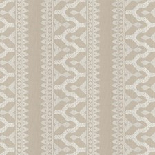 Natural Embroidery Drapery and Upholstery Fabric by S. Harris
