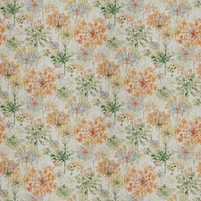 Orange Blossom Floral Drapery and Upholstery Fabric by Fabricut