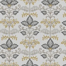 Yellow Cloud Floral Drapery and Upholstery Fabric by Fabricut