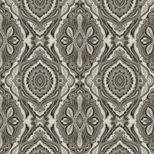 Charcoal Jacquard Pattern Drapery and Upholstery Fabric by Trend