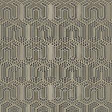Bluestone Geometric Drapery and Upholstery Fabric by Trend