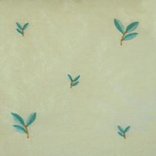 Natural/teal Drapery and Upholstery Fabric by Duralee