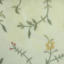Yellow/sage Drapery and Upholstery Fabric by Duralee