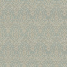Aqua Damask Drapery and Upholstery Fabric by Trend