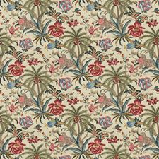 Jewel Floral Drapery and Upholstery Fabric by Fabricut