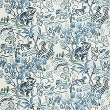 Blue Animal Drapery and Upholstery Fabric by Fabricut