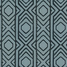 Aqua Line Global Drapery and Upholstery Fabric by S. Harris
