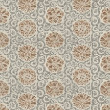 Sienna Gray Print Pattern Drapery and Upholstery Fabric by Vervain