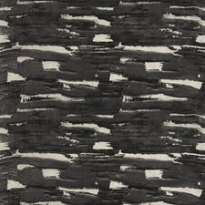 Black Jute Geometric Drapery and Upholstery Fabric by S. Harris