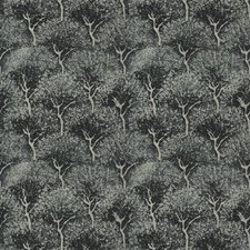 Tropic Indigo Leaves Drapery and Upholstery Fabric by Fabricut