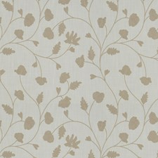 Natural Floral Drapery and Upholstery Fabric by Fabricut