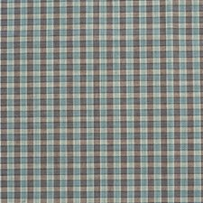 Azure Check Drapery and Upholstery Fabric by Lee Jofa