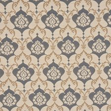 Prussian Blue Drapery and Upholstery Fabric by RM Coco