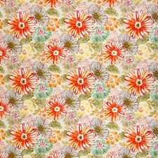 Apricot Floral Drapery and Upholstery Fabric by Greenhouse