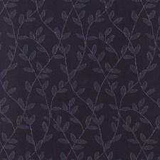Indigo Foliage Drapery and Upholstery Fabric by Greenhouse