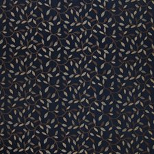 Navy Foliage Drapery and Upholstery Fabric by Greenhouse