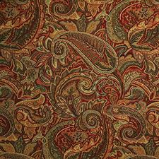 Spice Paisley Drapery and Upholstery Fabric by Pindler