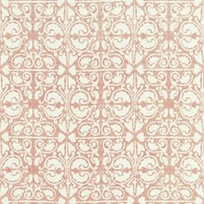 Pink/White Geometric Drapery and Upholstery Fabric by Kravet