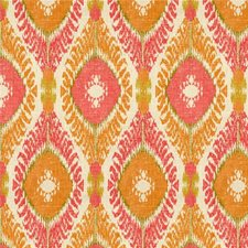 White/Pink/Orange Ikat Drapery and Upholstery Fabric by Kravet