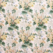Althea Cotton P-Citron Botanical Drapery and Upholstery Fabric by Lee Jofa