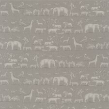 Canvas Animal Drapery and Upholstery Fabric by Andrew Martin