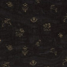 Black Silk Drapery and Upholstery Fabric by G P & J Baker
