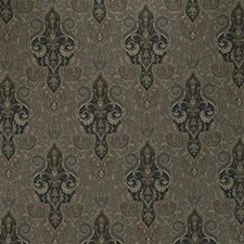 Grey/Black/Yellow Damask Drapery and Upholstery Fabric by Kravet
