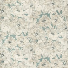 Soft Blue Botanical Drapery and Upholstery Fabric by Kravet