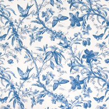 Cornflower Foliage Drapery and Upholstery Fabric by Greenhouse