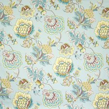 Mineral Floral Drapery and Upholstery Fabric by Greenhouse