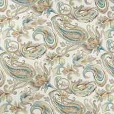 Nutmeg Paisley Drapery and Upholstery Fabric by Greenhouse