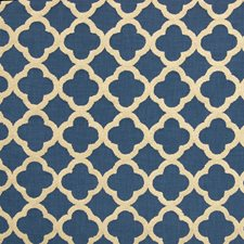 Cobalt Lattice Drapery and Upholstery Fabric by Greenhouse