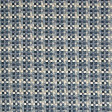 Indigo Geometric Drapery and Upholstery Fabric by Greenhouse
