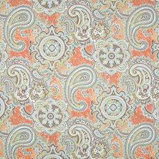 Papaya Suzani Drapery and Upholstery Fabric by Greenhouse
