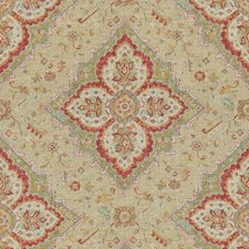 Red/Beige/Ivory Damask Drapery and Upholstery Fabric by Kravet