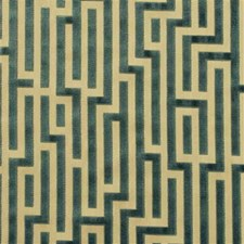 Teal Contemporary Drapery and Upholstery Fabric by G P & J Baker