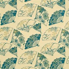 Teal Whimsical Drapery and Upholstery Fabric by G P & J Baker