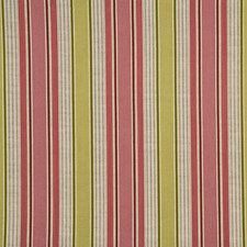 Rose/Green Stripes Drapery and Upholstery Fabric by G P & J Baker