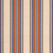 Sienna/Turquoise Stripes Drapery and Upholstery Fabric by G P & J Baker