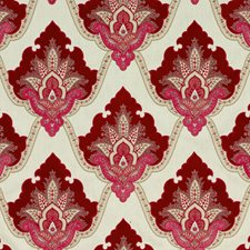 Ruby Embroidery Drapery and Upholstery Fabric by G P & J Baker