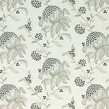 Pewter/Black Embroidery Drapery and Upholstery Fabric by G P & J Baker