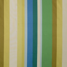 Green/Gilt/Azure Stripes Drapery and Upholstery Fabric by G P & J Baker