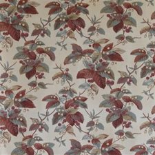 Red/Blue Botanical Drapery and Upholstery Fabric by Lee Jofa
