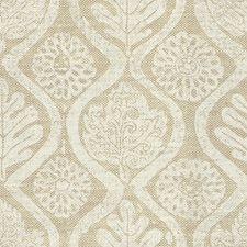 White/Oat Botanical Drapery and Upholstery Fabric by Lee Jofa